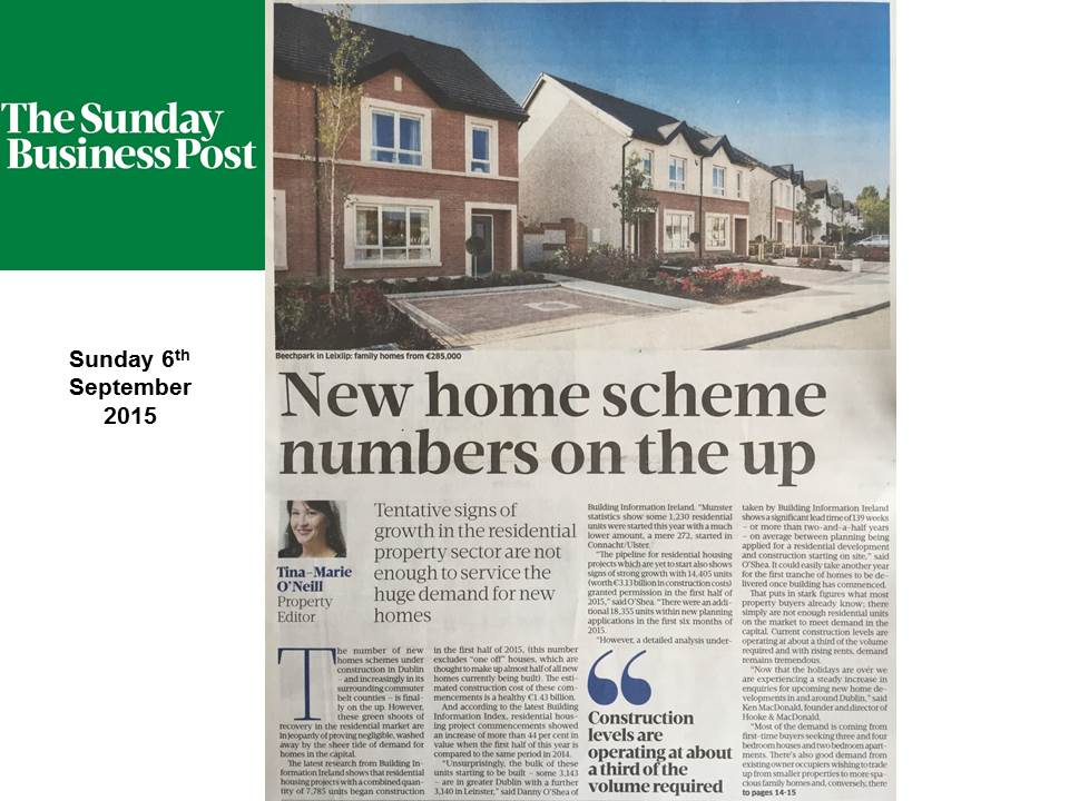 Residential Housing Sunday Business Post