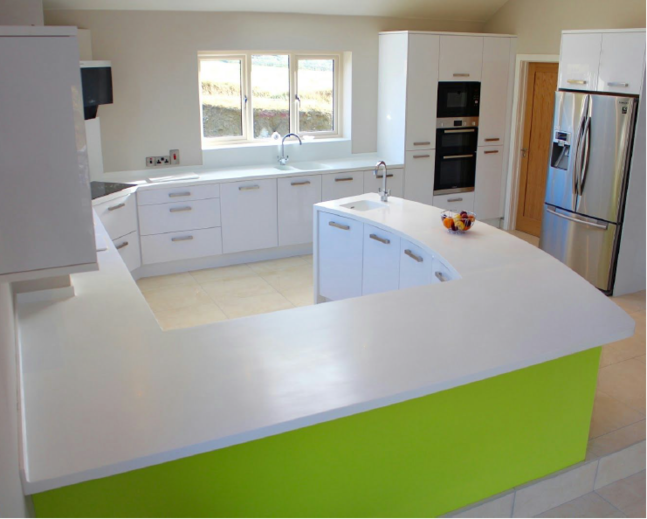 Gredorwood Lime Green Kitchen